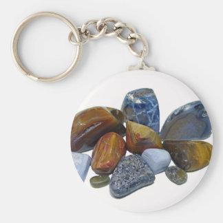 Polished Rocks Keychain