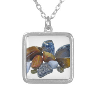 Polished Rocks Silver Plated Necklace