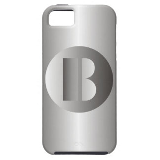 """Polished Steel """"B"""" iPhone 5 Cover"""