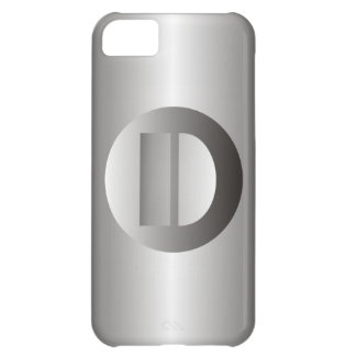 """Polished Steel """"D"""" iPhone 5C Cases"""