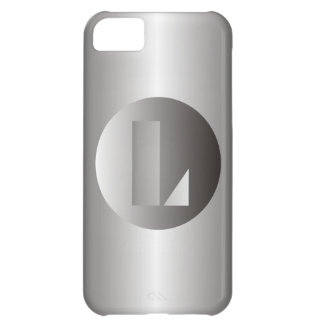 """Polished Steel """"L"""" Cover For iPhone 5C"""