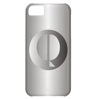 "Polished Steel ""Q"" iPhone 5C Case"