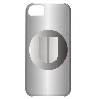 "Polished Steel ""U"" Case For iPhone 5C"