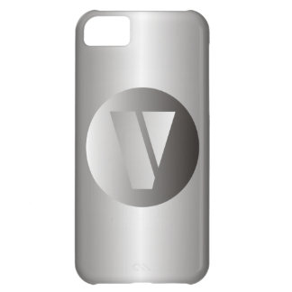 """Polished Steel """"V"""" Case For iPhone 5C"""
