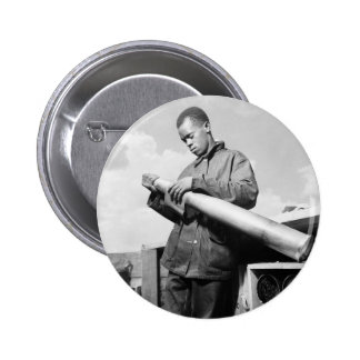 Polishing My Projectile 1940s Pinback Button