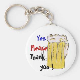 Polite Beer Keychain
