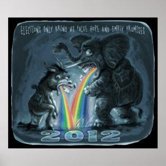 Political Animals Puking Rainbows Poster