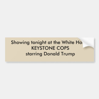 Political anti Trump bumper sticker