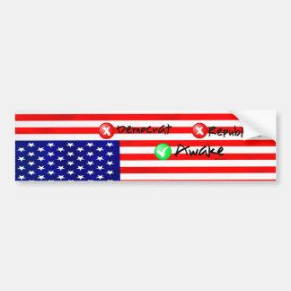 Political Bumper sticker Upside down flag