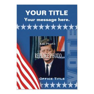 """Political Campaign 5"""" X 7"""" Invitation Card"""