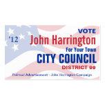 Political Campaign - City Council Business Card