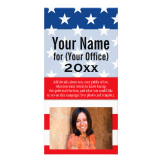 Political Campaign Non-Partisan Printed Candidate Photo Greeting Card