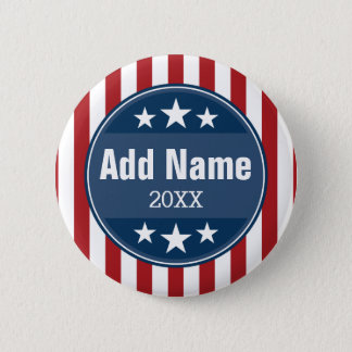Political Campaign - Patriotic Stars and Stripes 2 Inch Round Button