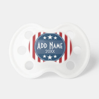 Political Campaign - Patriotic Stars and Stripes Baby Pacifier