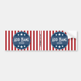 Political Campaign - Patriotic Stars and Stripes Bumper Sticker