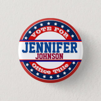 Political Campaign Template 1 Inch Round Button