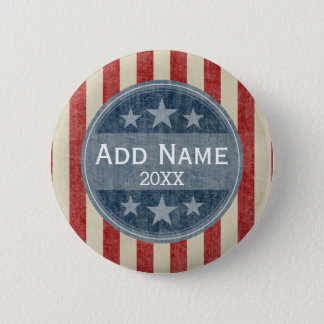 Political Campaign - vintage stars and stripes 2 Inch Round Button