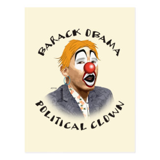 Political Clown Postcard