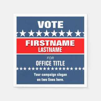 Political Election Campaign Template Paper Napkin