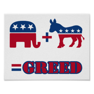 Political Greed Poster