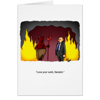 """Political Humor """"Just For Laughs"""" Greeting Card"""