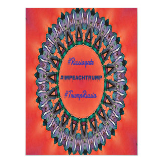 Political #Impeachtrump Russiagate Mandala Magnetic Invitations