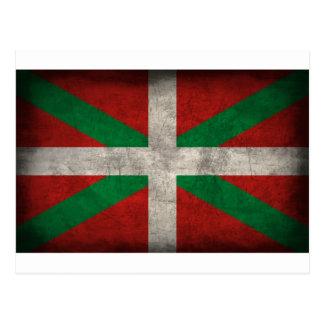 political items, basque / palesinian postcard