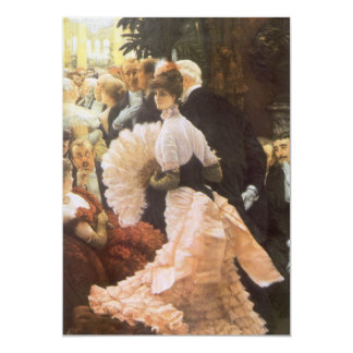 Political Lady by James Tissot, Vintage Victorian Card