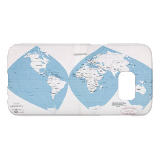 Political Map of the World (1983) Samsung Galaxy S7 Case