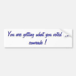 political opinion bumper sticker