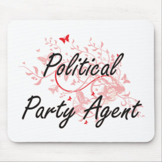 Political Party Agent Artistic Job Design with But Mouse Pad