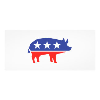 Political Party Pig Mascot Custom Rack Card