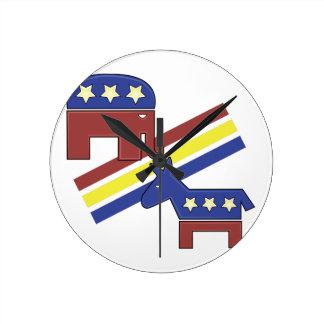 Political Symbols Round Clock