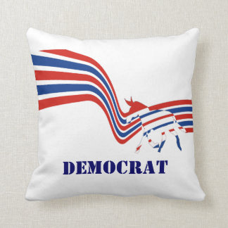Political United States Democrats Throw Pillow