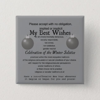 Politically Correct - Safe Season's Greeting 2 Inch Square Button
