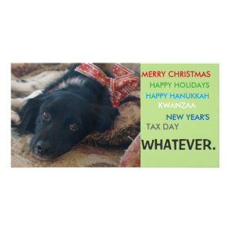 Politically correct xmas holiday christmas card photo cards