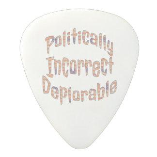 Politically Incorrect Deplorable Guitar Pick