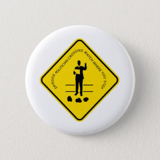 Politician crossing copy.GIF 2 Inch Round Button