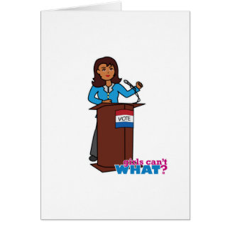 Politician Girl Card