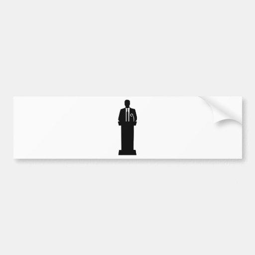 Politician speaker bumper sticker