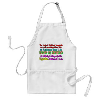 Politicians Spayed and Neutered Standard Apron