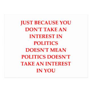 POLITICS POSTCARD