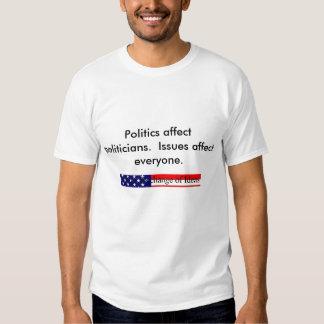 Politics vs. Issues 2 T Shirt
