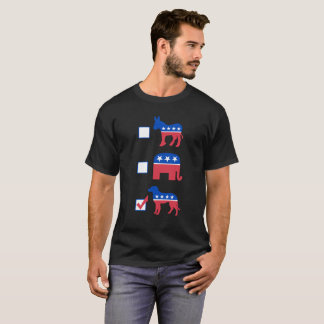 Politipets Vote Dog! Black T-shirt