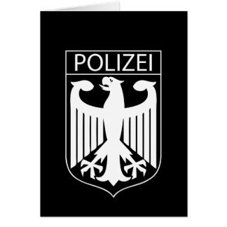 POLIZEI - German Police Symbol Gifts Card