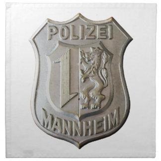 Polizei Mannheim Napkin