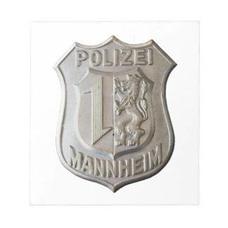 Polizei Mannheim Notepad