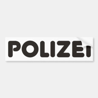 Polizei Products & Designs! Bumper Sticker