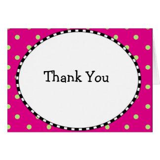 Polk a Dot Thank You Card