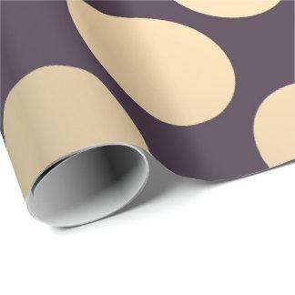 Polka Big Dots Foxier Gold Black Minimal Pantone Wrapping Paper
